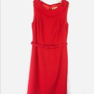 Elizabeth McKay Red Retro Sheath Dress